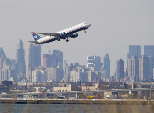 Airplane Over NEw York